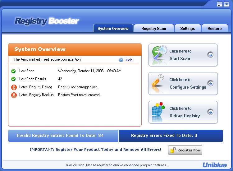 برنامج Registry Booster 4.6.2 Portable العملاق الكبير الاخطاء